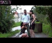 скачать порно на телефон - Публичный групповой трах в городском парке